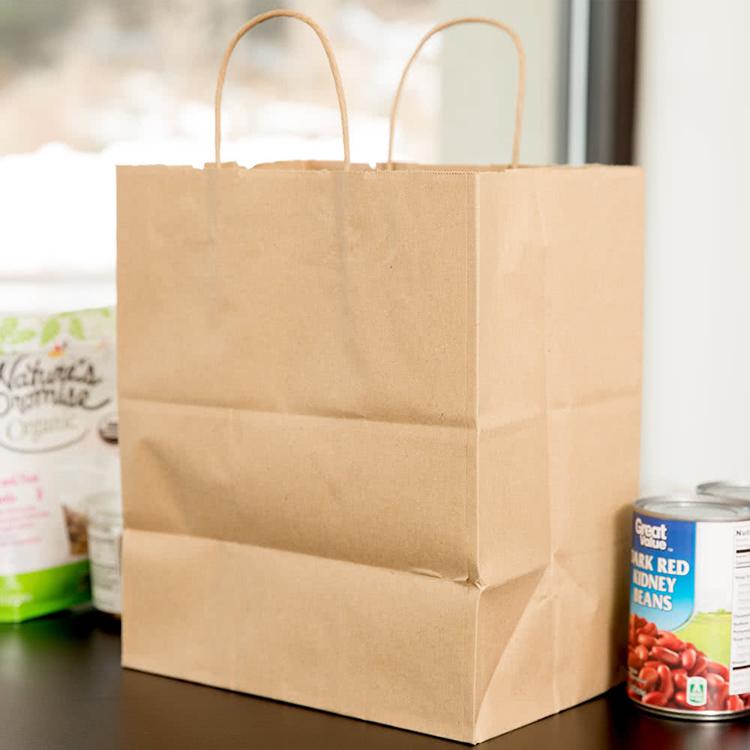 Professional China Carton Box Custom Print - Medium Kraft Shopping Custom Made Paper Bag – JD Industrial