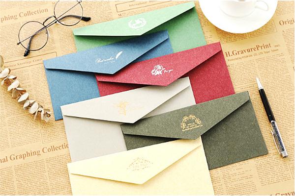 古典烫金牛皮纸信封 (2)