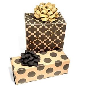 Black logo printing kraft gift wrapping paper
