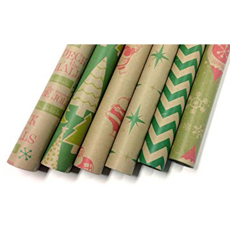 Best Price on Special Paper Bag - Custom printed kraft paper roll set  – JD Industrial
