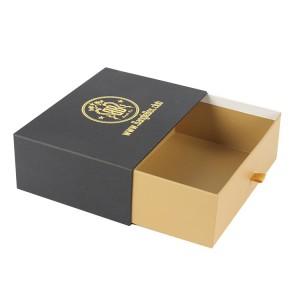 Luxury Handmade Custom Logo Printed Paper Jewelry Gift Box , Ring Box, Necklace Box