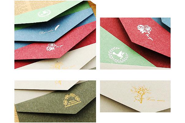 古典烫金牛皮纸信封 (3)