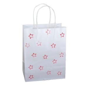 White Kraft DIY Pattern Shopping Bag with Handle