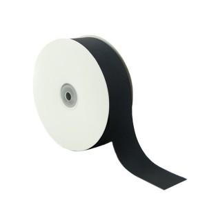 Black grosgrain polyester printed grosgrain ribbon by Roll