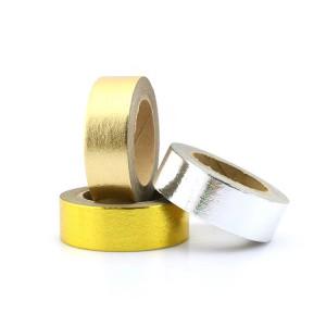 Warm verkoop foelie band, persoonlike gedruk dekoratiewe foelie Washi tape