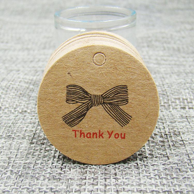 Hot sale Factory Medium Gift Bags - Kraft paper hang tag round shape brown garment tag – JD Industrial