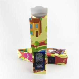 Custom gold foil art paper wine box can flat shipping