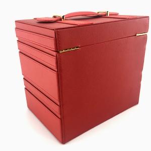 Luxury Red PU Leather Jewelry storage case wholesale