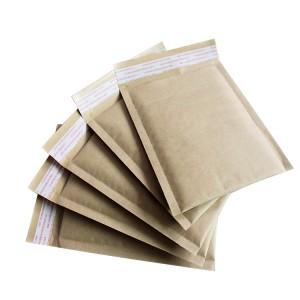 Empuk Mailer Kraft Paper Bubble Sampul surat menyurat beg
