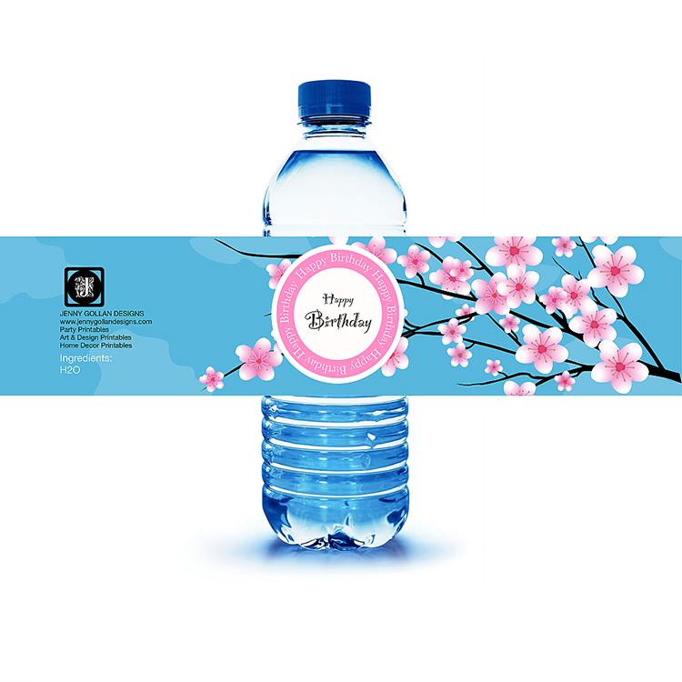 cherryblossomwaterbottlelabel