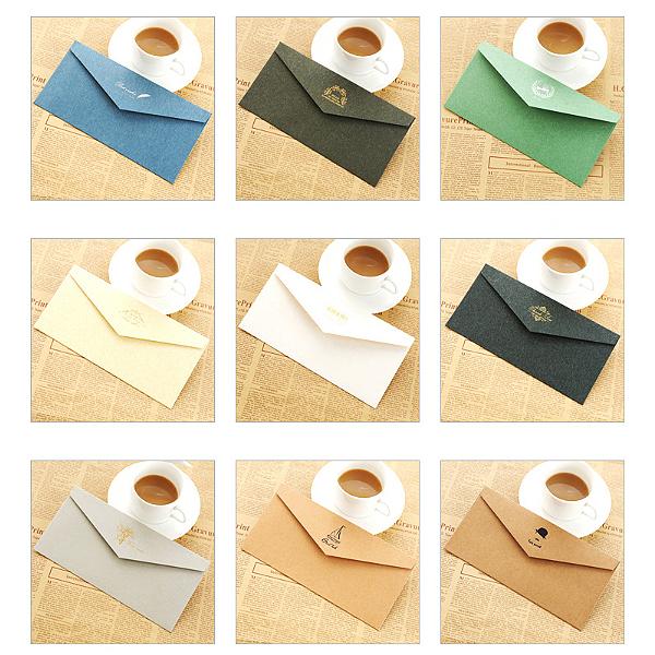 古典烫金牛皮纸信封 (7)