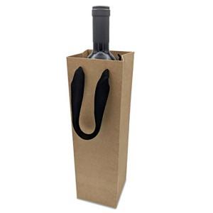 Kraft Shopping Paper Bag for wine bottle