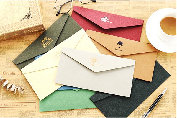 古典烫金牛皮纸信封 (1)